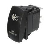 Оригинал              12V 20A 5-контактный кулисный переключатель FAN OVERRIDE ON / OFF Водонепроницаемы Лазер LED Кнопка
