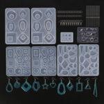 Оригинал              248шт DIY Силиконовый серьги Кулон плесень эпоксидная смола для изготовления ювелирных изделий плесень Набор