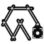 Оригинал              Алюминиевый сплав Multi Угол Инструмент Шесть Складной Универсальный Мера Правитель Плитка Мера Инструмент