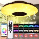 Оригинал              220 В 24 Вт LED Потолочные светильники Human Motion Датчик Голосовое управление светильники скрытого монтажа