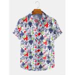 Оригинал              Мужские абстрактные воротники с лацканами с короткими рукавами для фруктов и овощей Дизайн Рубашки