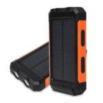 Оригинал              500000 мАч Водонепроницаемы Солнечная Power Bank Солнечная зарядное устройство встроенный компас Dual USB портативный и 2 светодиода