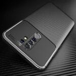 Оригинал              Bakeey для Xiaomi Redmi 9 Чехол Luxury Carbon Fiber Шаблон Ударопрочный Силиконовый Защитный Чехол Задняя крышка с защитой Объектив