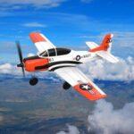 Оригинал              Eachine Mini T-28 Троян EPP 400мм Размах крыльев 2.4G 6-осевой гироскоп RC Самолет Тренер с фиксированным крылом RTF One Ключ Возврат для начинающих Две бата