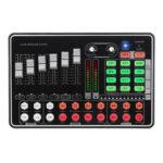 Оригинал              H9 bluetooth Live Sound Card для Youtube Tiktok Gaming Broadcast Внешняя микшерная гарнитура Микрофон для компьютера Мобильный телефон Веб-трансляция Набор аккомпан