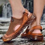 Оригинал              Мужская На открытом воздухе сетчатая рука сшитая с закрытыми носками водные туфли