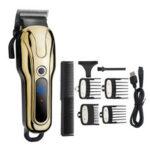 Оригинал              Дисплей High Power Electric Волосы Clipper 2 Gear Регулируемая профессиональная бритва Триммер Волосы Машинка для стрижки волос Парикмахерская Инструме