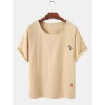 Оригинал              100% хлопок дышащие мужские абстрактные вышитые простые футболки с коротким рукавом