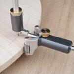 Оригинал              2 в 1 Деревообработка прямая линейная дуга Scriber Инструмент с карандашом писец Инструмент Draw Draw Ciright Straight Инструмент
