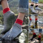 Оригинал              5 Toe Cut устойчивы Носки Удобные противоскользящие Yoga Носки Пешие прогулки Бег Восхождение Босиком Носки На открытом воздухе