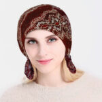 Оригинал              Мода Кружева Печать Химиотерапия Cap Вязание Вырез шляпы