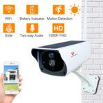Оригинал              Pripaso 1080P WI FI Солнечная камера HD Беспроводной IP67 Водонепроницаемы WiFi Внешний видеонаблюдения IP-видеонаблюдение камера двусторонняя аудиока