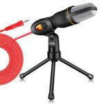 Оригинал              Bakeey Live Микрофон Gaming Микрофон 3,5-мм проводной Микрофон Стереоконденсаторный микрофон с подставкой для рабочего стола Штатив для ПК YouTube Вид