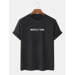 Оригинал              Простые футболки с короткими рукавами и текстильным принтом из 100% хлопка