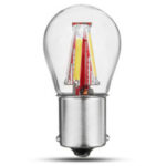 Оригинал              3W 1156 BA15S P21W 4 накаливания COB LED Фонарь указателя поворота лампы заднего хода Лампа 450LM для 12-24V Авто автомобиля