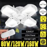 Оригинал              E27 LED Гараж Лампа Потолочный светильник Магазин Мастерская Деформируемая Лампа Дистанционный
