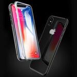 Оригинал              Bakeey 360º Изогнутый магнитный двухсторонний 9H Закаленное стекло-металл Защита всего тела Чехол для iPhone X/XS / XR / XS Макс. / 7/8/7 Plus/8 Plus/6/6 Plus