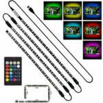 Оригинал              4x50cm USB LED Strip Light 5050 RGB Многоцветный свет настроения ТВ Подсветка фона украшения ж / Дистанционный