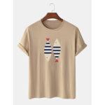 Оригинал              Простые футболки с короткими рукавами и принтом в виде 100% хлопка