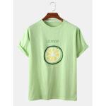Оригинал              Мужская футболка с фруктами и принтом Шея Футболки с коротким рукавом