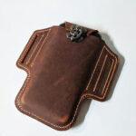 Оригинал              Мужчины Натуральная Кожа EDC Сумка Талия Pack 6,3-дюймовый телефон Сумка с Ремень петлями