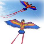 Оригинал              110×55см Colorful Попугай Кайт Летающие игрушки Дети На открытом воздухе Игры