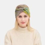 Оригинал              Женский Повязка на голову, окрашенная крестом, эластичная На открытом воздухе Sport Wide Brim Волосы Стандарты Повязка на голову