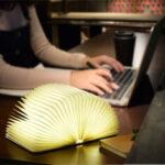 Оригинал              Складной деревянный ночной светильник на 360 ° LED Creative Night Лампа USB аккумуляторная