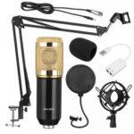 Оригинал              BM800 Pro Конденсатор Микрофон Набор Подвеска-штанга с ножничным рычагом и подставкой