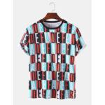 Оригинал              Мужские Colorful дышащие спортивные футболки с коротким рукавом с принтом в виде буквы