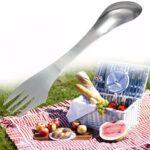 Оригинал              3 в 1 металлическая ложка Spork Вилка столовые приборы Посуда Многофункциональная посуда из нержавеющей стали На открытом воздухе Портативны