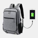 Оригинал              Мужской USB порт для зарядки большой емкости 16 дюймов Многофункциональный рюкзак Повседневная Сумка