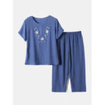 Оригинал              Женские пижамы с цветочным принтом и свободным воздухом