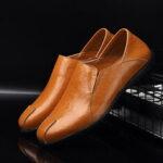 Оригинал              Мужская кожаная удобная нескользящая повседневная обувь без рукавов