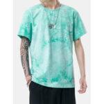 Оригинал              Tie Dye Mens Round Шея Повседневные футболки с коротким рукавом