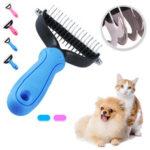 Оригинал              Гребень для домашних животных с двусторонней защитой от граблей Slicker Pet Щетка Puppy Собака Кот Шитье Щетка