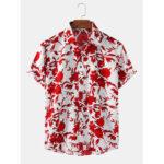 Оригинал              Рубашки мужские с цветочным принтом и дышащей повседневной рубашкой
