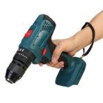Оригинал              3 в 1 беспроводной Hammer Дрель аккумуляторная электрическая Отвертка удар Дрель 10 мм для 18 В Makita Батарея 4000 об / мин