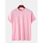 Оригинал              Мужские 100% хлопок, сплошной цвет, круглые Шея Повседневные футболки с коротким рукавом