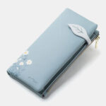 Оригинал              Женщины 13 слотов для карт Двойные цветочные печатные длинные бумажники клатчи Сумка