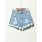 Оригинал              5 цветов Женское карманные полые рваные джинсовые шорты