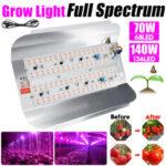 Оригинал              70 Вт 140 Вт полный спектр УДАРА LED Grow Light Veg Растение Цветочный потоп Лампа для внутреннего использования AC220V