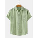 Оригинал              Мужские рубашки с вертикальными полосками из хлопка с дышащим рукавом