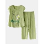 Оригинал              Женская одежда с принтом Plus Размер пижамы Soft Летняя дышащая одежда для отдыха