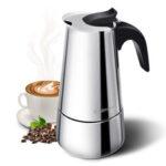 Оригинал              Godmorn Плита Espresso Maker Moka Pot Percolator Итальянская кофеварка 300 мл / 10 унций / 6 чашек Classic Кафе Maker 430 из нержавеющей стали Подходит для индукционных пл