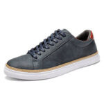 Оригинал              Menico Men Classic Skate Shoes Comfy Soft Кроссовки из натуральной кожи на шнуровке