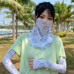 Оригинал              Женщины Солнцезащитный крем На открытом воздухе UV Защита Ice Silk Рукава Рукава Guard Рукав Лицо Дышащая Фата Маска