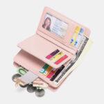 Оригинал              Женщины Натуральная Кожа RFID Анти Противоугонные мультислоты Bifold Wallet Кошелек Клатчи Сумка
