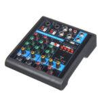Оригинал              Мини 4-канальный USB Портативный Аудио Микшер Bluetooth Live Studio Консоль Микширования Аудио