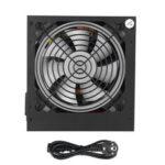 Оригинал              Черный 650W блок питания для ПК Тихий 12см вентилятор RGB 20 и 4-контактный ATX 4 порта SATA